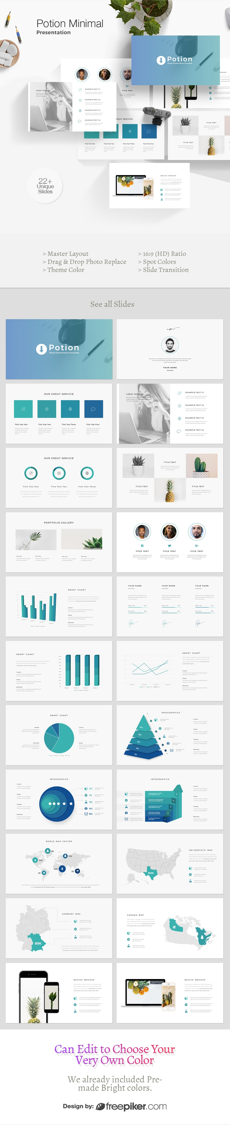 Potion Minimal Powerpoint Template