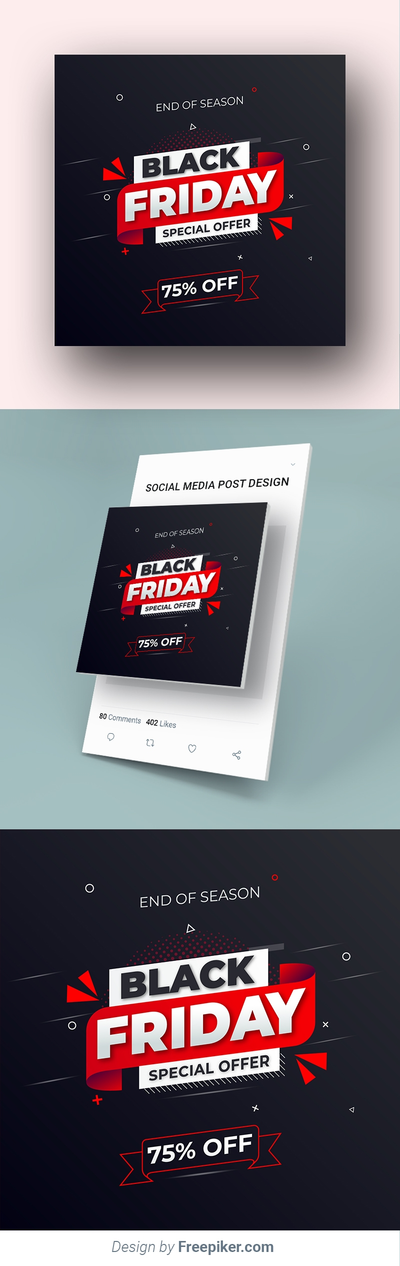 Black Friday Social Media Post Sale Banner