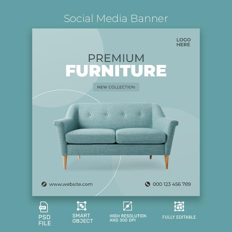 Premium Furniture Social Media Template