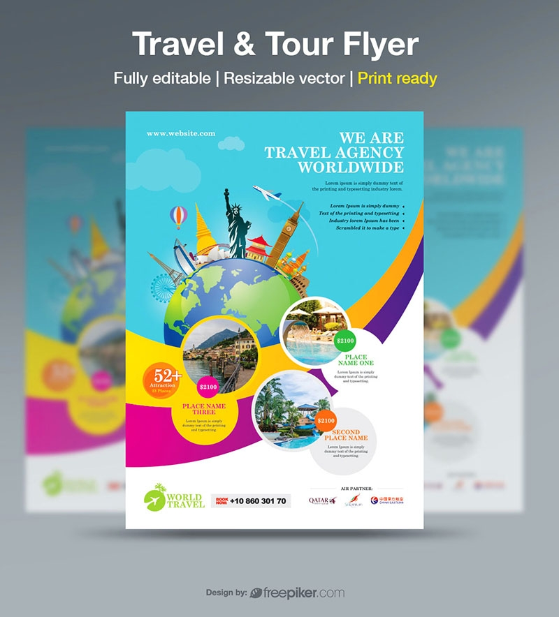 Freepiker Travel Tour Flyer