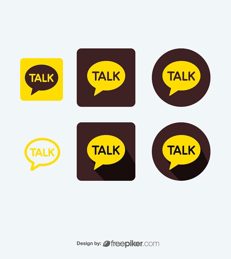 KakaoTalk Messenger Vector Icons