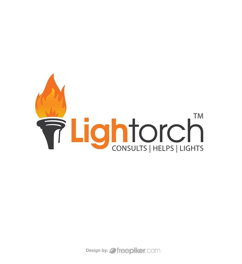 Torch Lighting Flame Logo