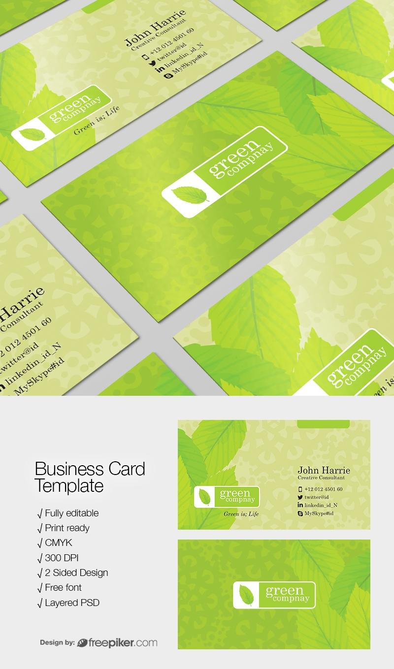 Freepiker corporate green psd business card corporate green psd business card reheart Images