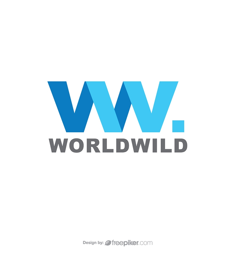 World Wide WW Letter Travle Agency Logo