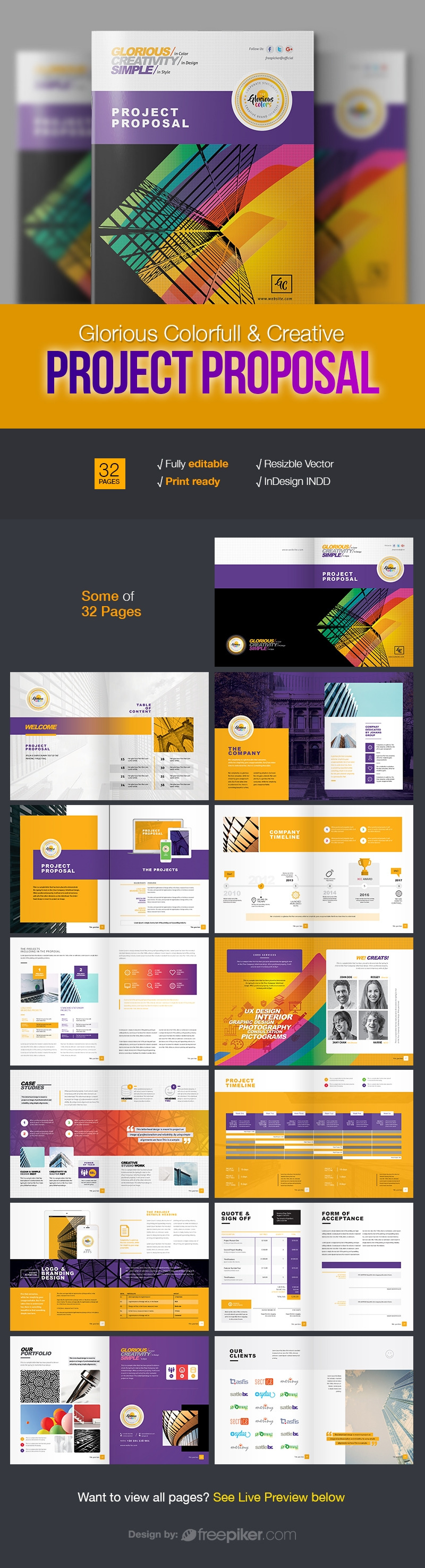 Clean & Creative Corporate Project Proposal