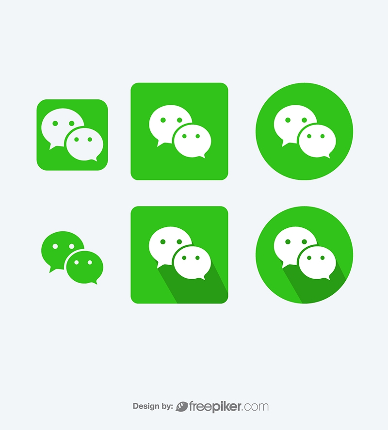 Wechat Messenger Vector Icons