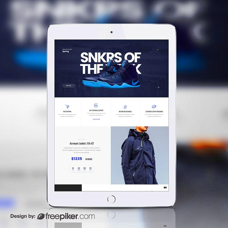 Responsive Tablet White iPad Device Screen Mockup