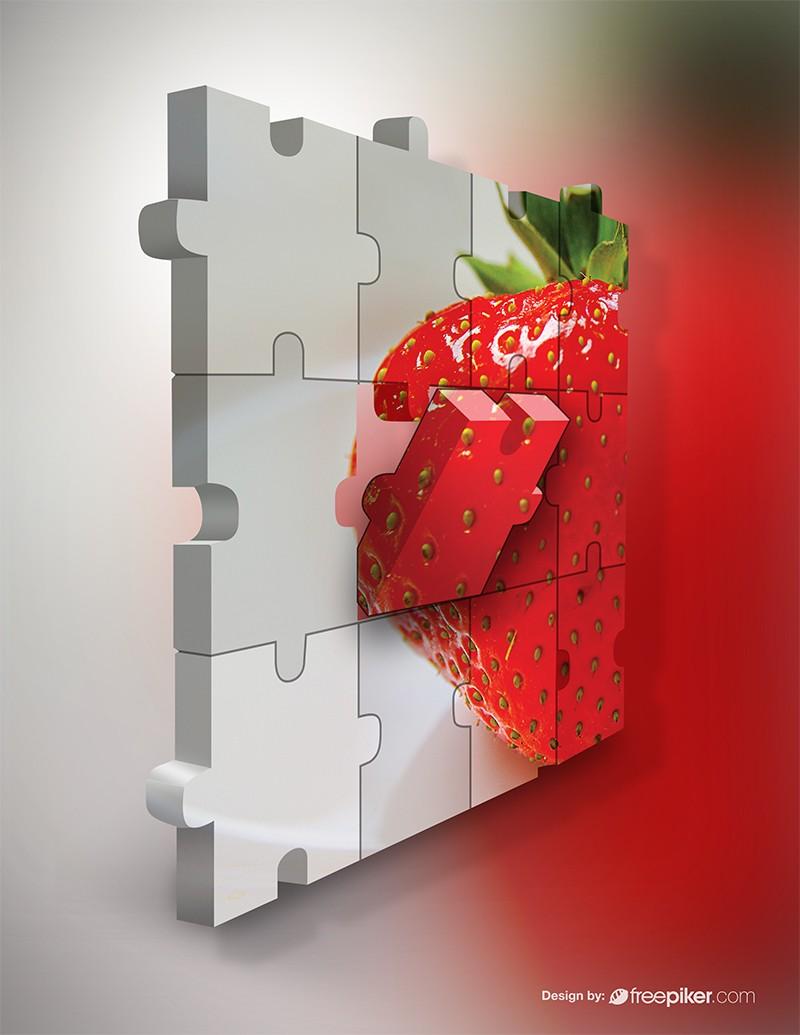 Puzzle 3D Mockup Graphics