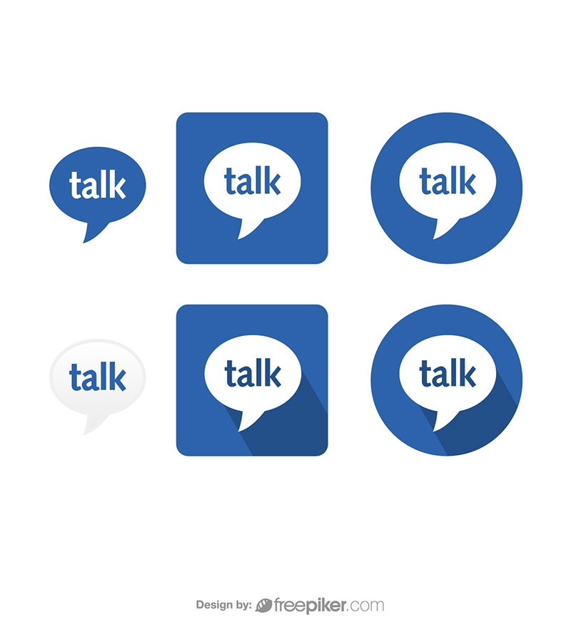 Google Talk Gtalk Vector Icons Vector Icons