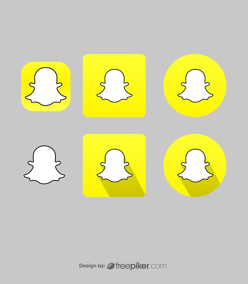 SnapChat Messenger Vector Icons