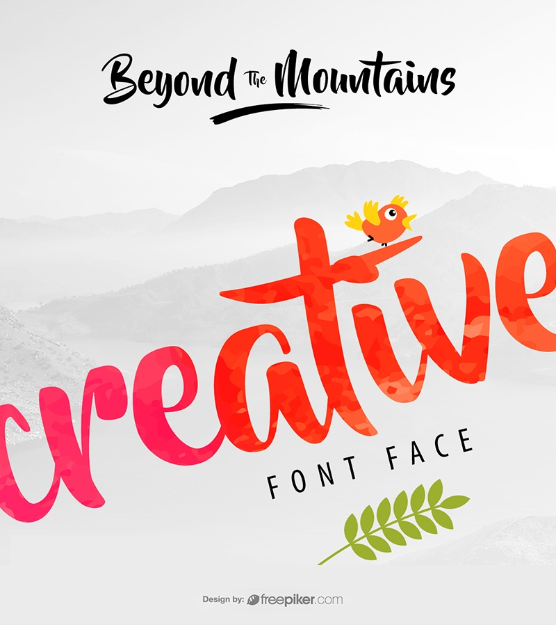 BrushScript Font Preview Design Creative Mockup