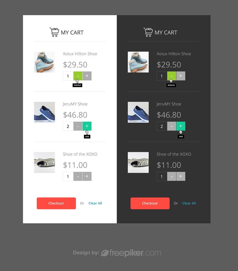 Responsive Ecommerce Cart UI & UX