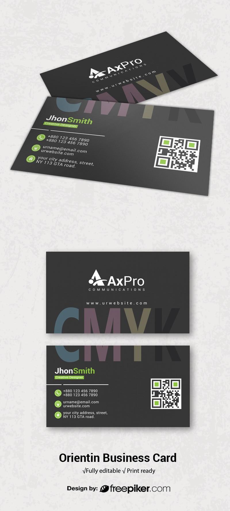 Freepiker cmyk business card cmyk business card reheart Images