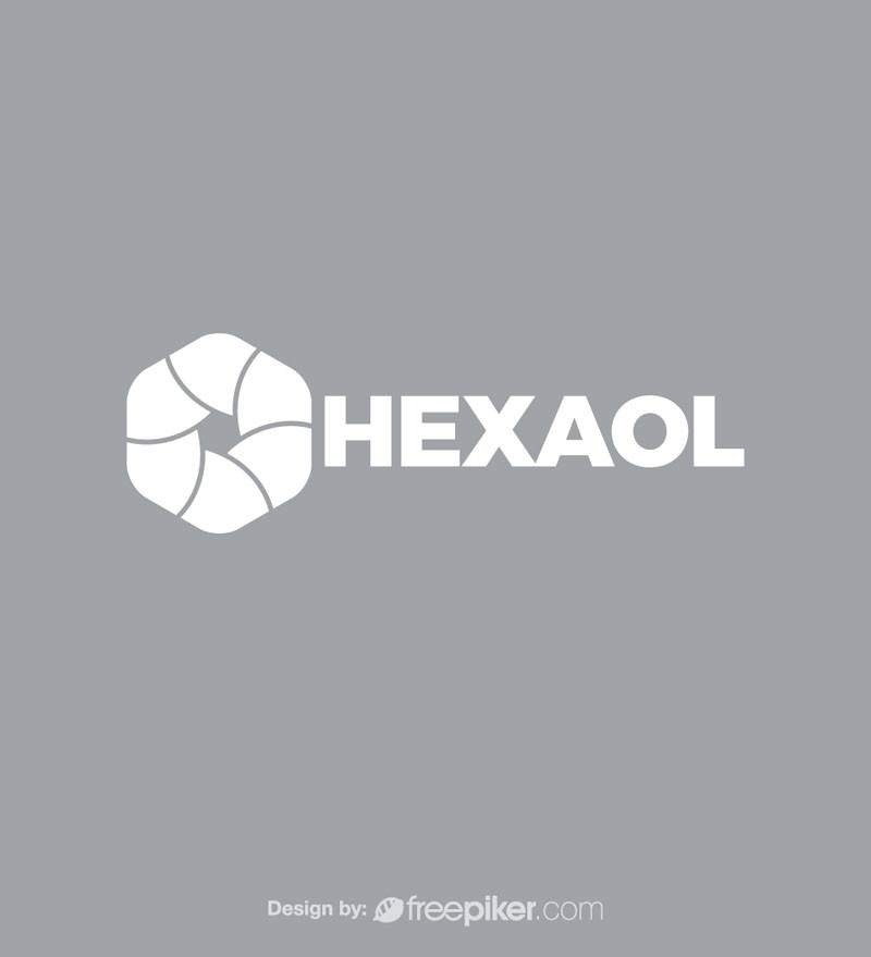 Freepiker Hexagon Minimal Polygon Symbol Logo