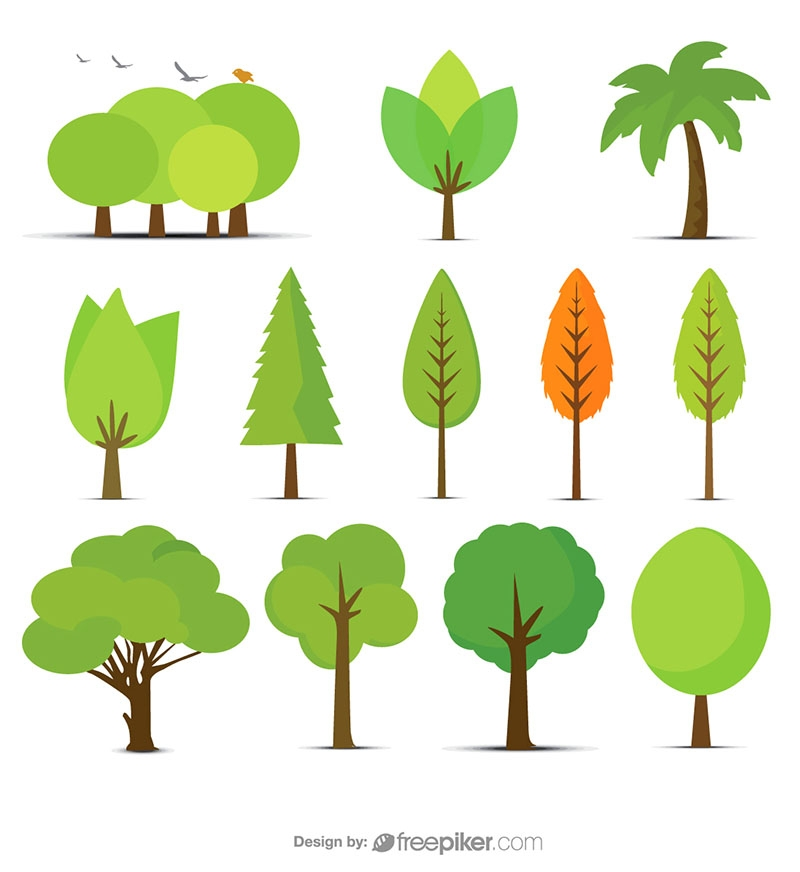 Vector Tree & Plant Set