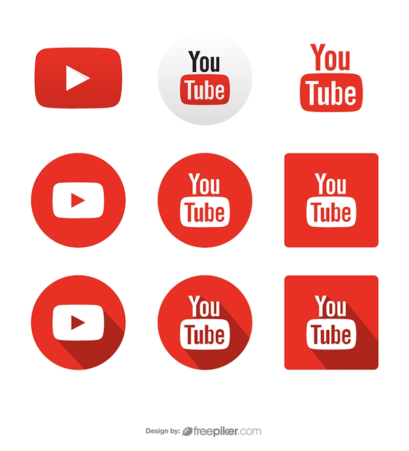 Youtube Social Media Icons Vector Icons