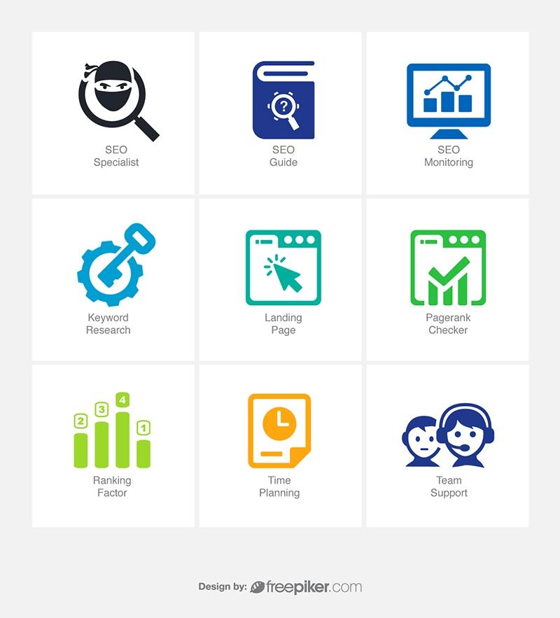 SEO Icons v7 Vector Icons