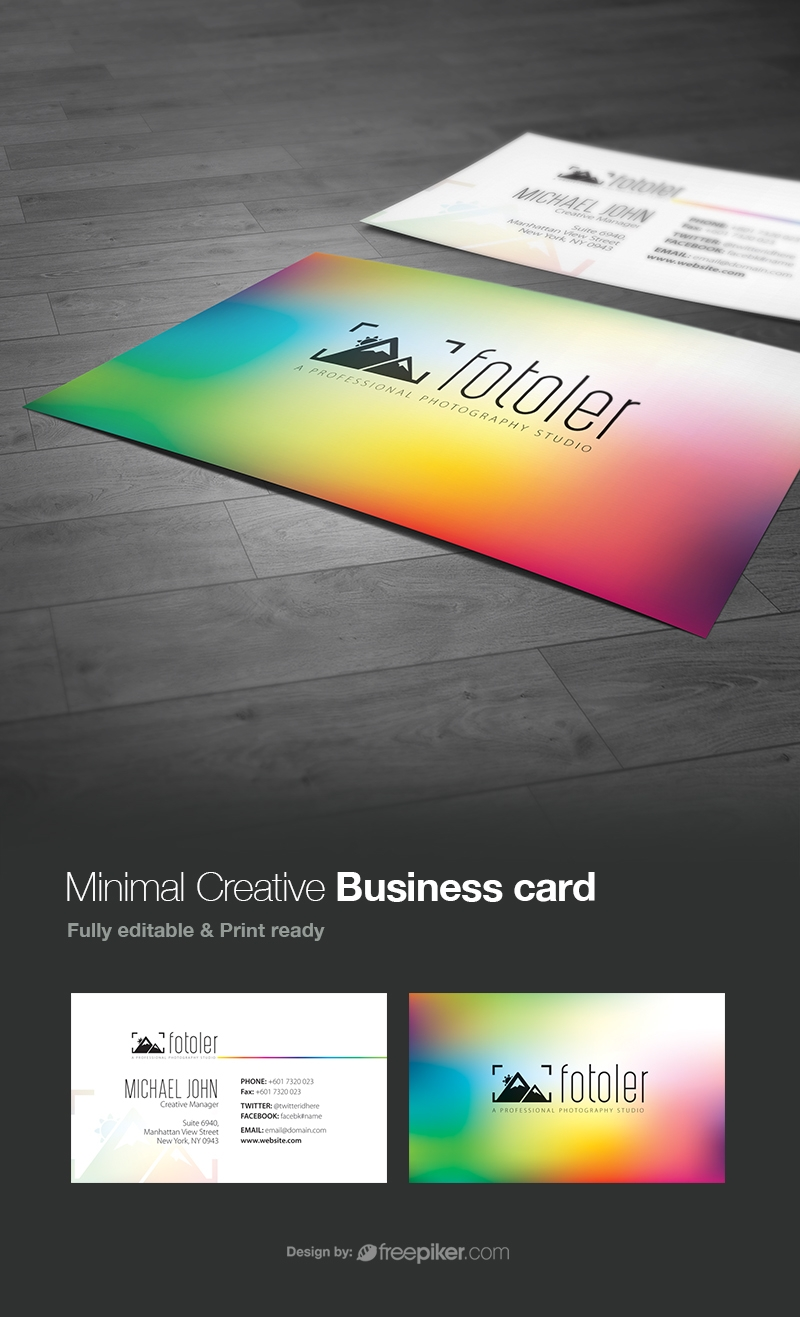 Creative Colorful Photographer Business Card