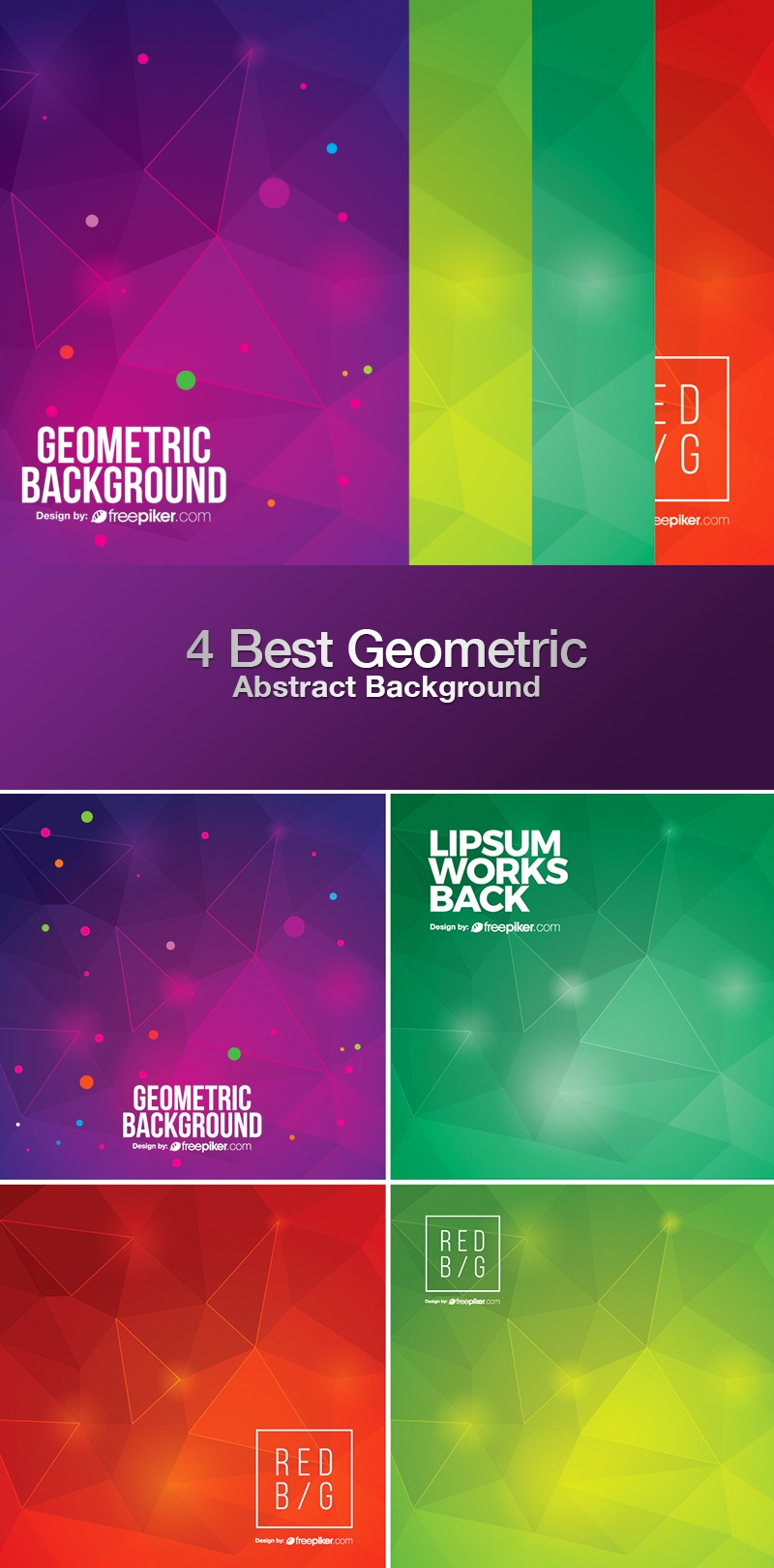Geometric Abstract Background Collection