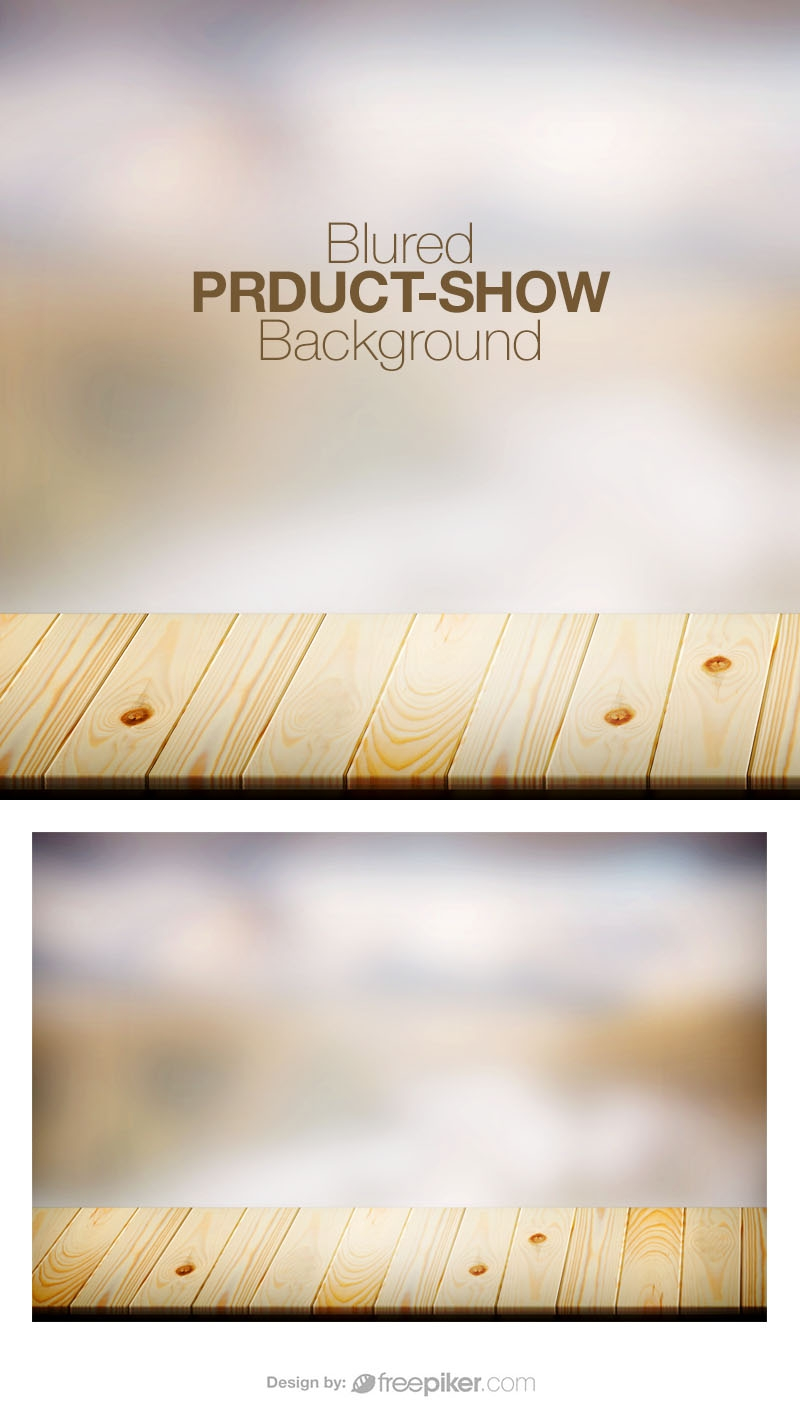 Blurred Background with Wooden Table Spotlight