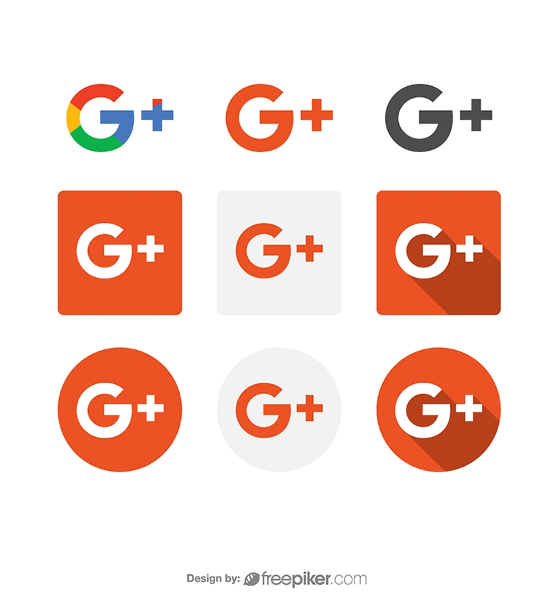 Google Plus Social Media Icon Vector Icons