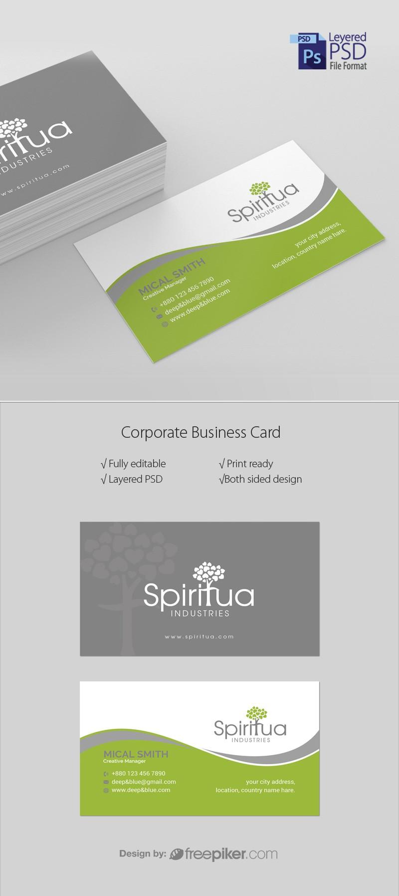 Freepiker | corporate business card