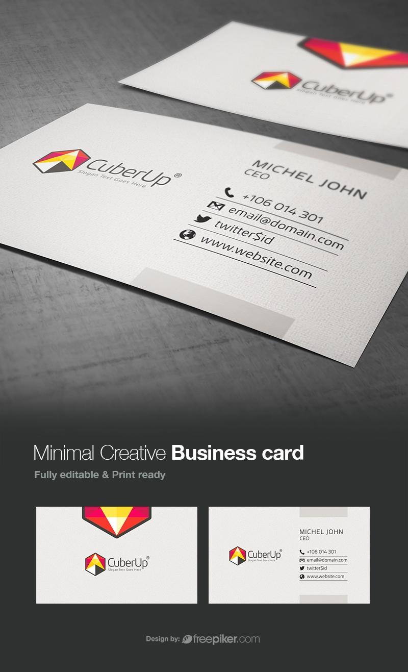 Creative Minimal Corporate Business Card Design