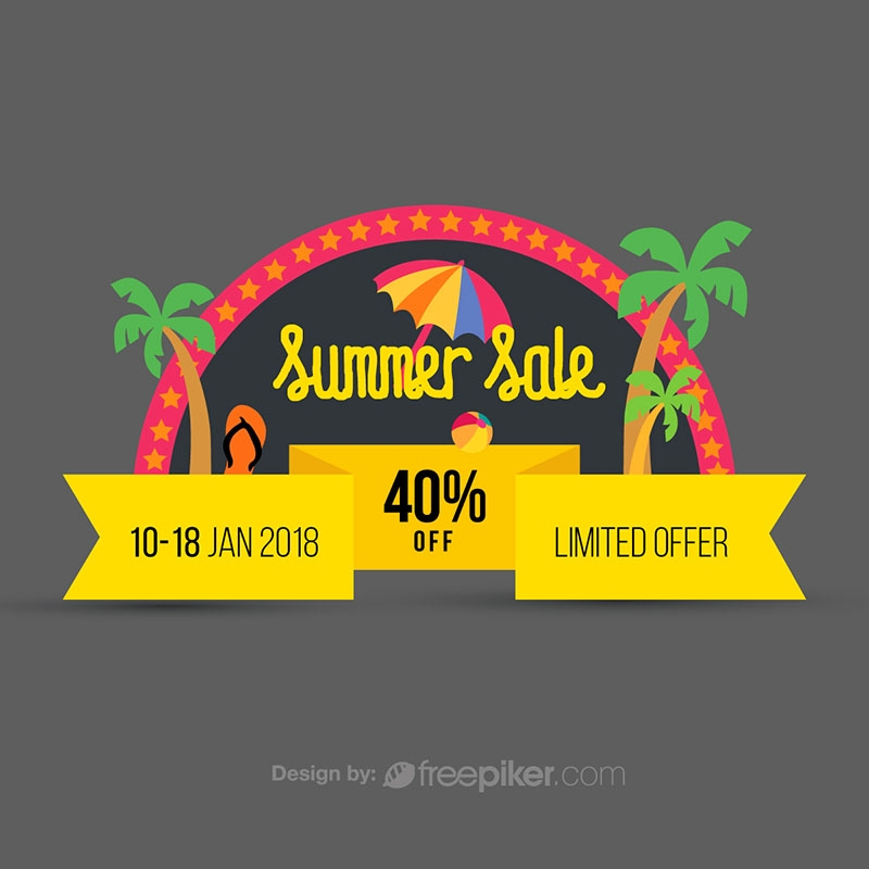 Summer Sale Discount Offer Conceptual Banner
