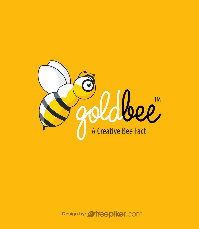 Golden Bee Fly Logo