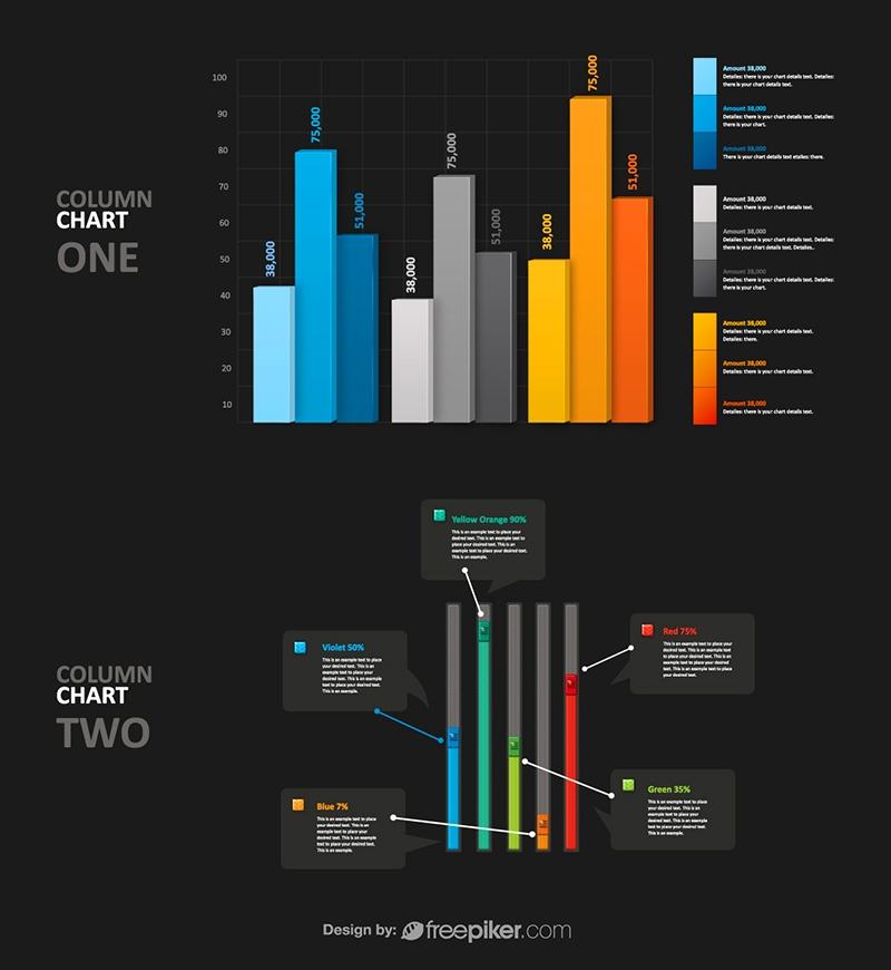 Layered PSD Column Infographic