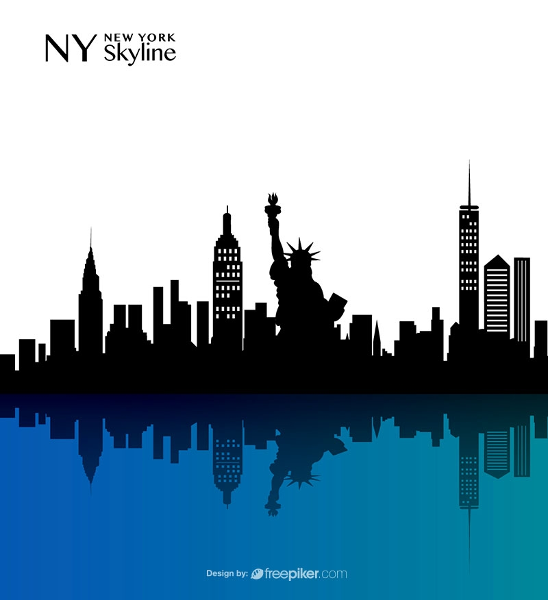 freepiker new york skyline vector