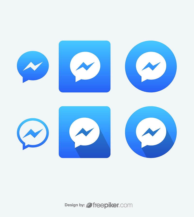 Facebook Messenger Vector Icons Vector Icons