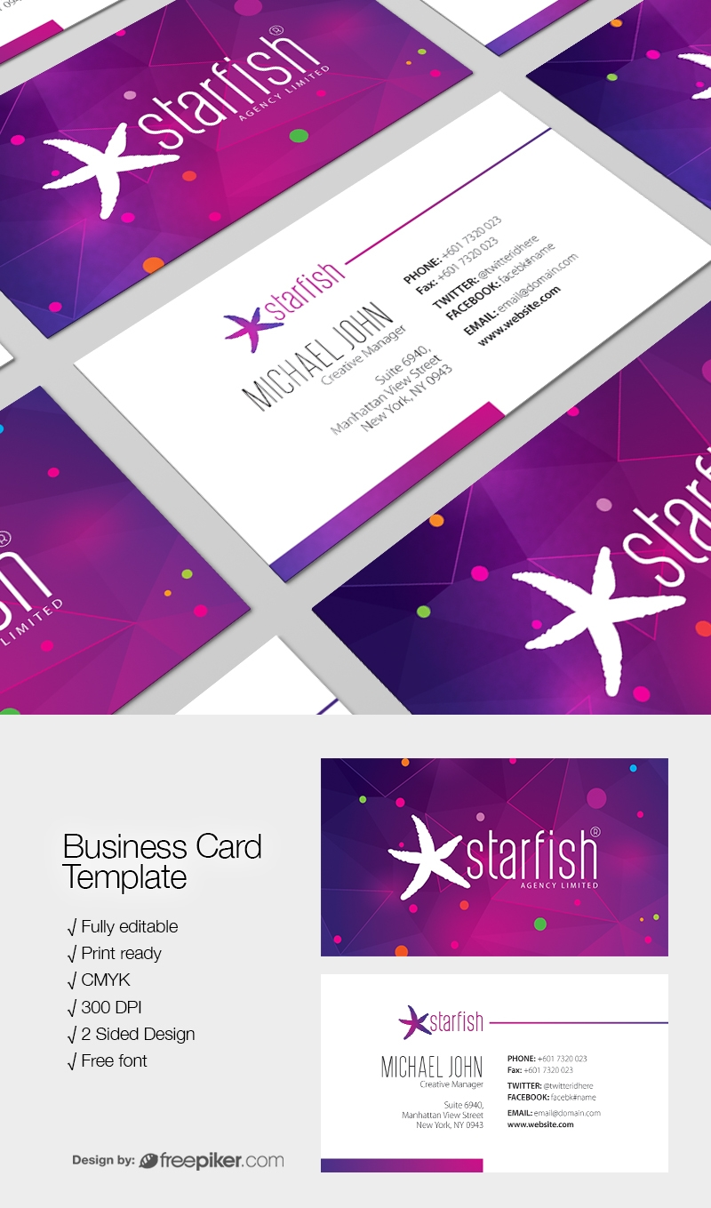 Dark Minimal Creative Business Card