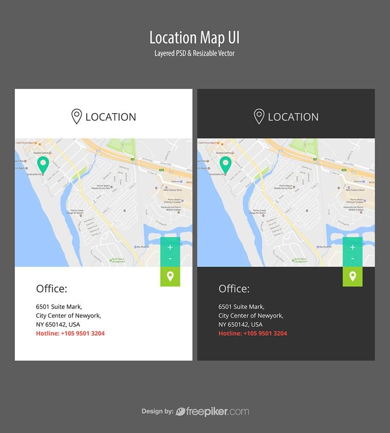Responsive Location Map UI
