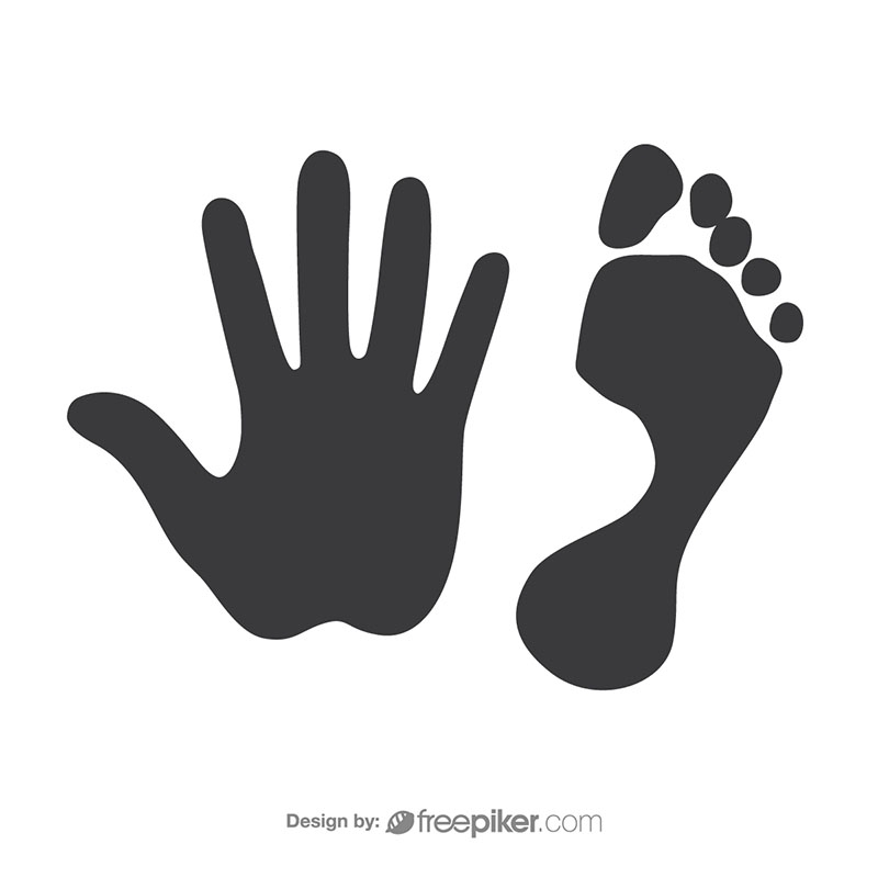 freepiker footprint handprint vector rh freepiker com hand print vector image handprint with blood vector