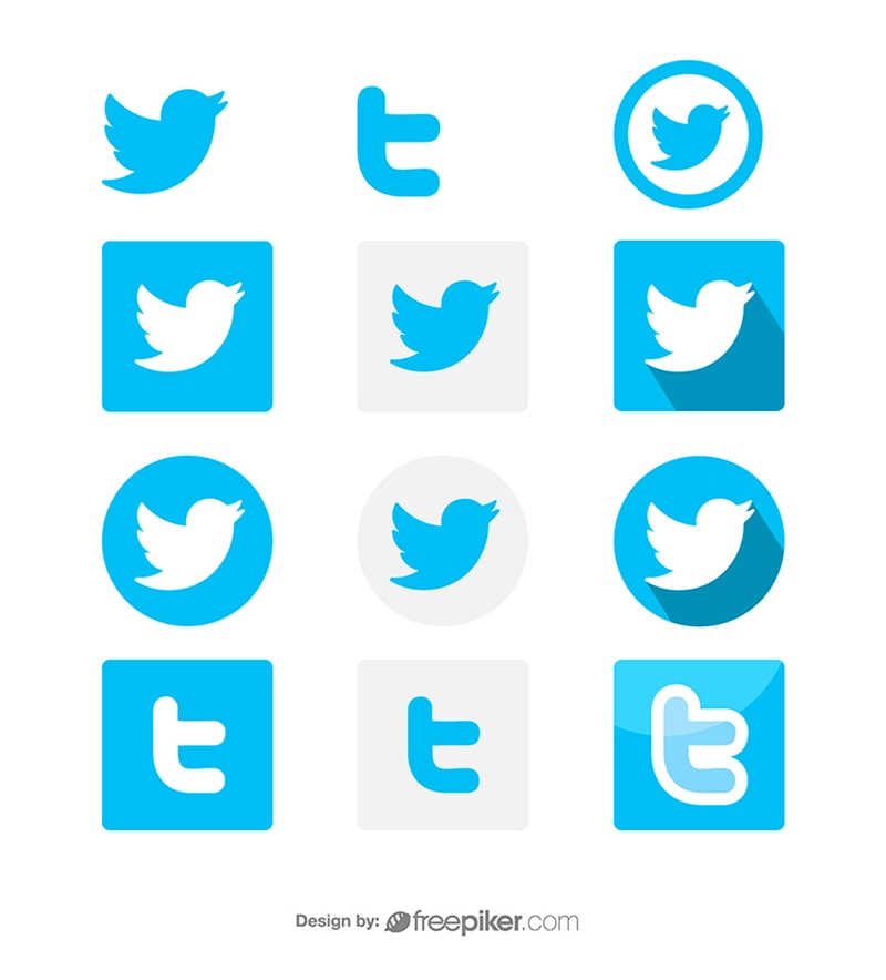Twitter Social Media Icon Vector Icons