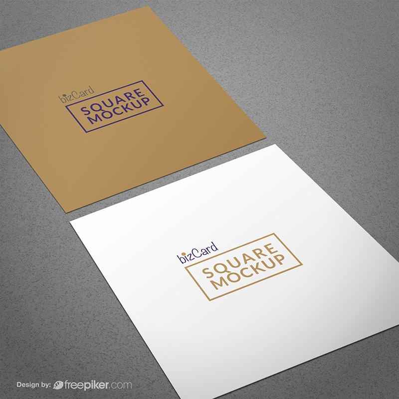 Freepiker square business card mockup square business card mockup reheart Image collections