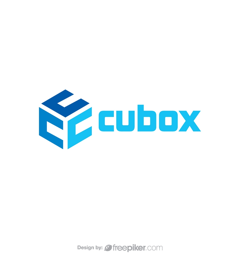 Cube Box with C Letter Logo