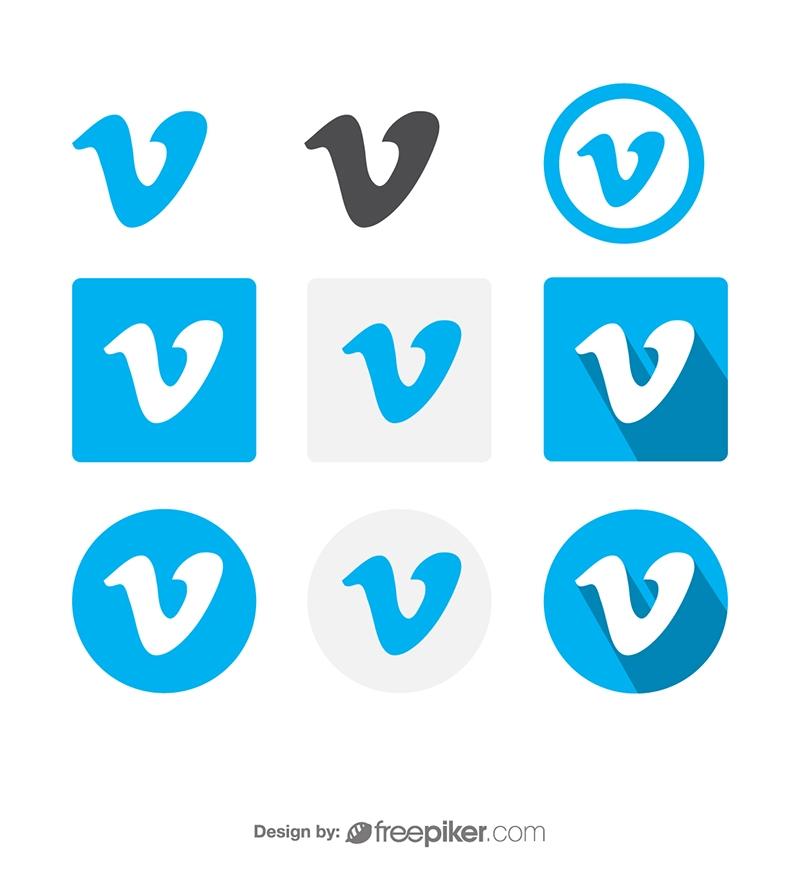 Vimeo Social Media Icon Vector Icons