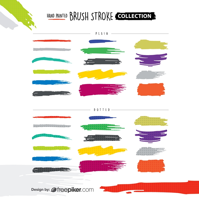 Hand Painted Brush Stroke Collection