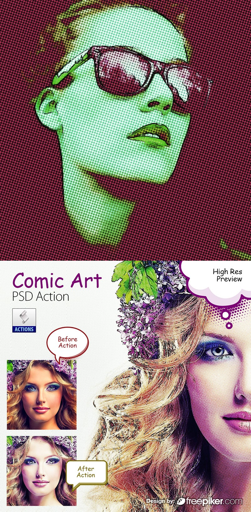 Comic Art PSD Action