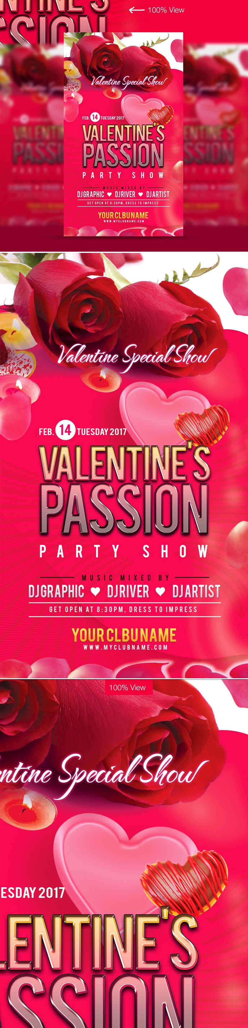 Valentine Party Pink Flyer