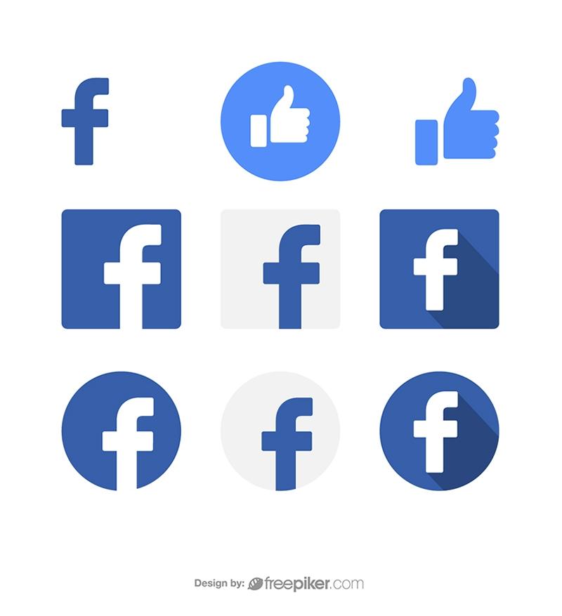 Facebook Social Media Icon Vector Icons