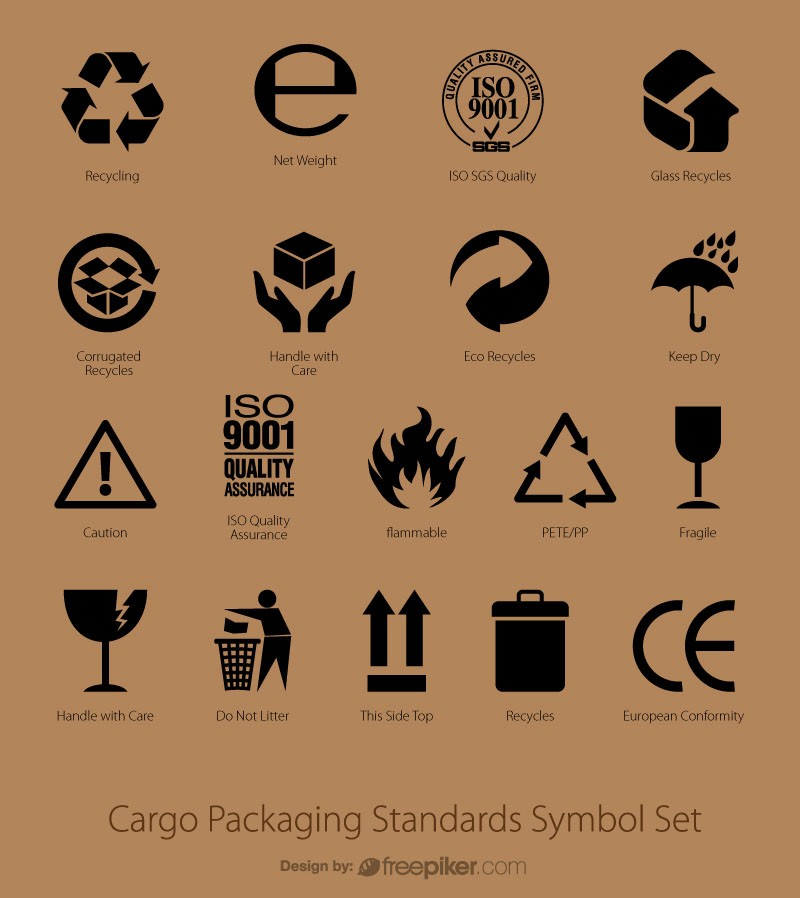 Cargo Packaging Standards Symbol Set