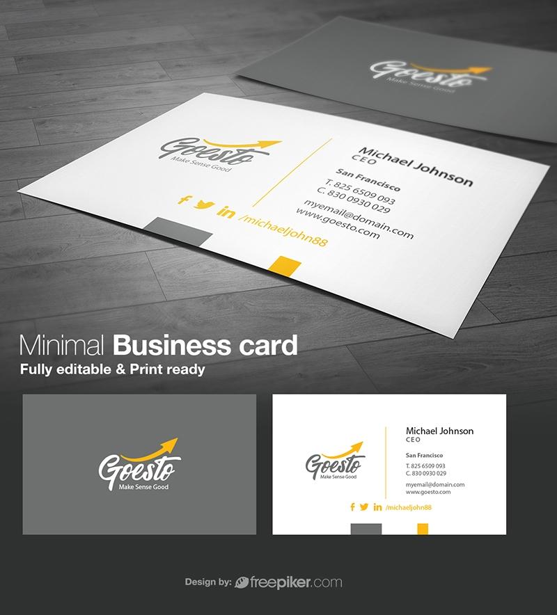 Freepiker | corporate minimal business card