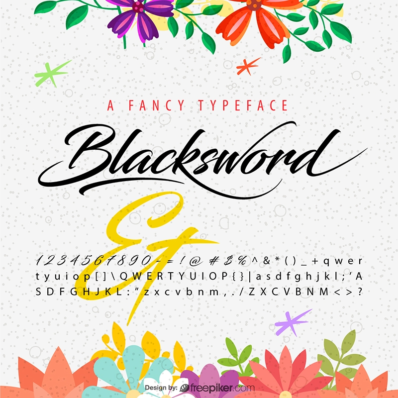 Fancy Font Preview Mockup Design Elements