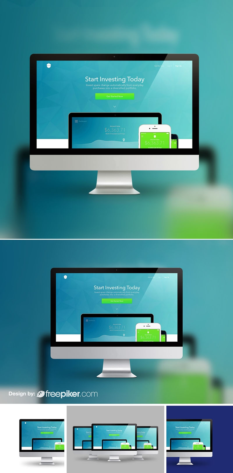 Responsive Desktop Device iMac Screen Mockup