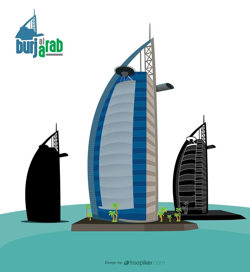 Burj Al Arab Bulding Dubai Travel Heritage