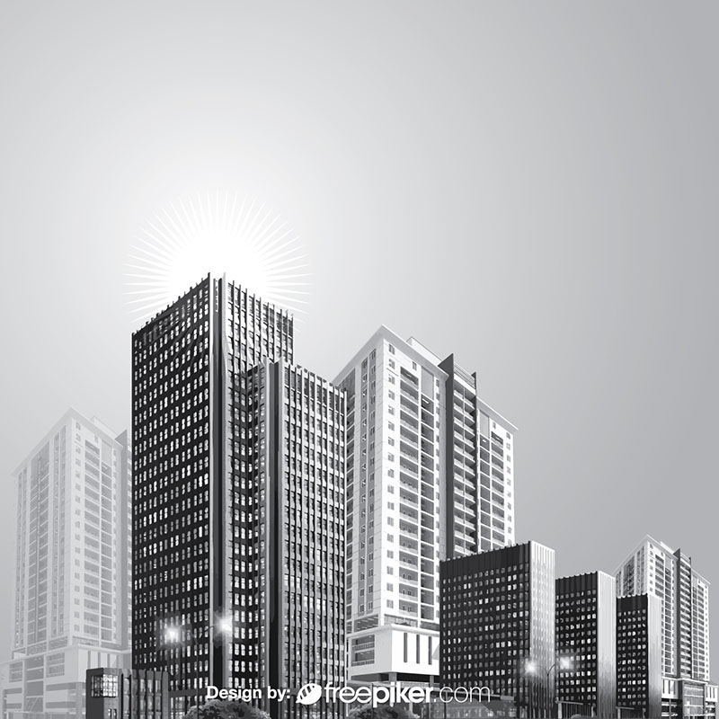 Black White Buildings & Cityscapes