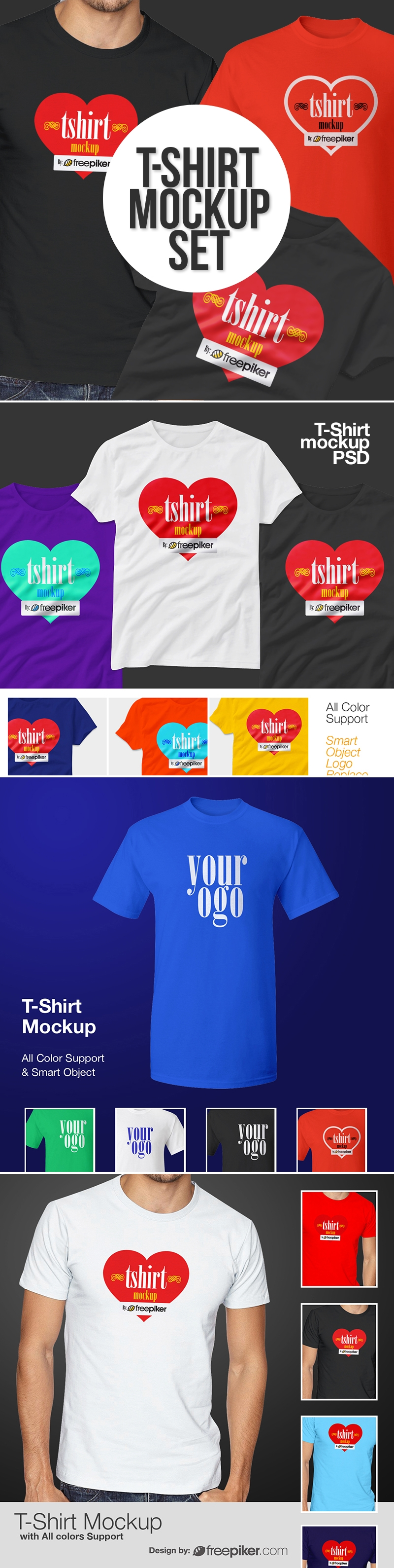 T Shirt Mockup PSD Graphics Pack